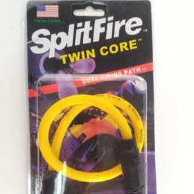 สายหัวเทียนแต่ง Split Fire Twin Core สีเหลือง