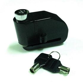 กุญแจล็อคจานดิส กันขโมย แบบมีเสียง สีดำ
